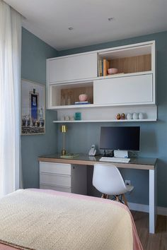 Study Room Design, Study Room Decor, Room Design Bedroom, Small Room Design, Room Ideas Bedroom, Home Room Design, Small Room Bedroom, Home Office Design, Small Rooms
