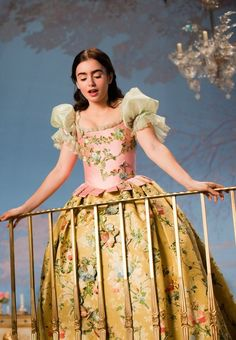 "Lily Collins in ""Mirror Mirror"" Lily Collins Dress, Cinderella, Princess Aesthetic, Gala Dresses, Vestidos Vintage, Princesas Disney, Historical Clothing, Poses, Costume Design"