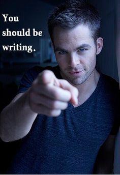 #StarTrek #ChrisPine #CaptainKirk You Should Be Writing