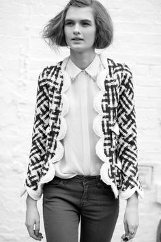 Love the scalloped edge of this jacket!
