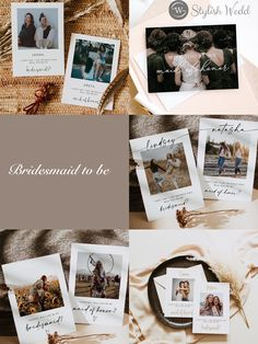 modern bridesmaid to be card with photo collage