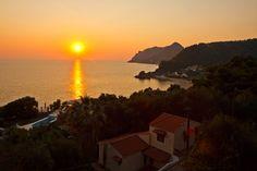 Sunset at Pelekas village, Corfu