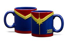 Embossed Captain Marvel Mug | ThinkGeek