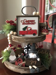 The modern farm house design isn't just for rooms. The farm house design totally reflects the entire style of the house and the family tradition also. It totally reflects the entire style… Farmhouse Christmas Decor, Rustic Christmas, Farmhouse Decor, Farmhouse Design, Farmhouse Style, Modern Farmhouse, Christmas Decor For Kitchen, Coffee Table Christmas Decor, Farmhouse Ideas