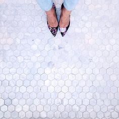 marbelous marble hexagon