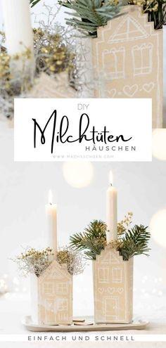 Dieses süße Milchtüten-DIY ist eine schöne Bastelidee für Tetrapacks. Ob als Tischdeko für Weihnachten oder über dein gesamten Winter. Mit einer Kerze wird's dann so richtig kuschlig. Wie das genau geht zeige ich dir in meinen Anleitung auf dem Blog. #upcycling #tetrapack #basteln #bastelideen #kinder #bastelnmitkinder #winterdeko #dekoideen #upcycle Merry Little Christmas, Christmas Time, Xmas, Tetra Pack, Natural Christmas, Tis The Season, Wonderful Time, Diy Gifts, Advent