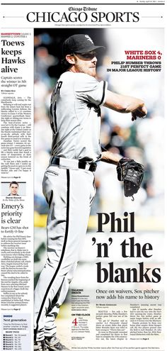simple but eye-catching sports page