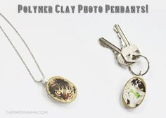 Handmade gift - How to create a polymer clay photo pendant