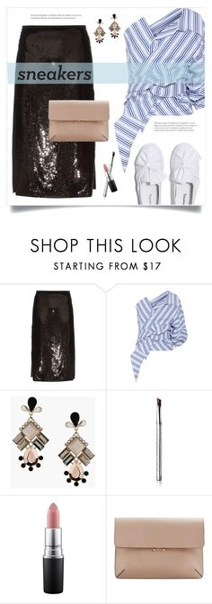 """So Fresh: White Sneakers"" by grrr8style ❤ liked on Polyvore featuring Rochas, Johanna Ortiz, Topshop, By Terry, MAC Cosmetics and MANGO"