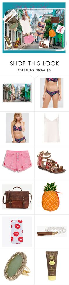 """Pack an Go: Cuba"" by beatefeick on Polyvore featuring Mode, Pour Moi?, L'Agence, Sam Edelman, Chico's, House of Harlow 1960, Sun Bum, Banana Boat und Packandgo"