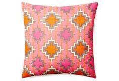 Aztec 20x20 Outdoor Pillow, Orange on OneKingsLane.com
