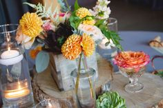 Love The Little Centerpieces And Individual Blooms For Wedding Flowers Florist