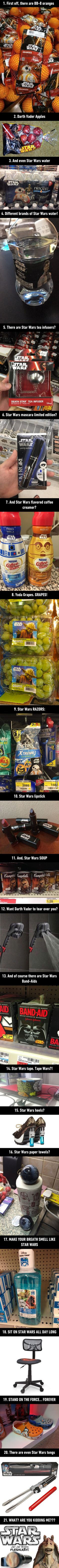 This is what happens when Disney gets the force... 21 Ridiculous Star Wars Products Prove That Star Wars Stuff Has Gone Too Far