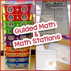 Simply Skilled in Second: Guided Math & Math Stations {Part 2}  This is a fantastic post to alleviate some of the fears.  I love this storage system.  I have a pastel one on order for my classroom.
