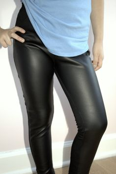 Kids Leather Leggings Faux Leather Pants Black Girls Leather Leggings 5y-8y Princess leggings by JMSTYLE by JMSTYLE on Etsy