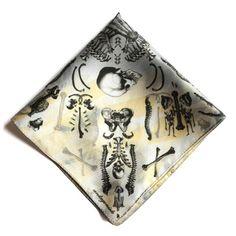Skeleton pocket square. #skull #handkerchief   #bones