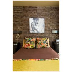 Sultry bedroom enriched with gold.