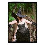 Wilderness Witch Halloween Greeting Card #halloween #happyhalloween #halloweenparty #halloweenmakeup #halloweencostume