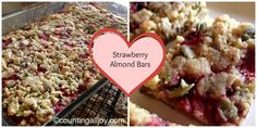 Strawberry Almond Bars|CountingAllJoy.Com