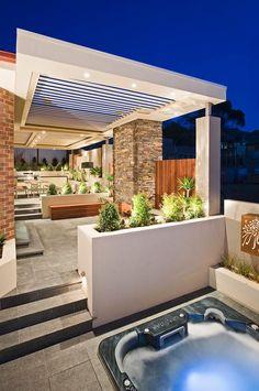 Creative Outdoor Solutions - contemporary - landscape - melbourne - C.S Design Outside Living, Outdoor Living Areas, Outdoor Rooms, Pergola Patio, Backyard Landscaping, Landscaping Ideas, Modern Pergola Designs, Porch Designs, Gazebos