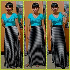 Top-guess,maxi dress-forever 21,accessories-h&m
