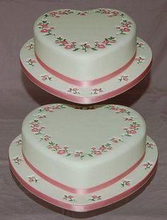 Tier Heart shape Wedding Cake Top Design.