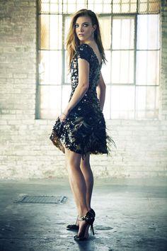 Natalie Dormer   Alberta Ferretti dress; Doves by Doron Paloma earrings; Heels at Dolce & Gabbana