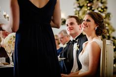 Magical Christmastime wedding reception at the Morris Inn