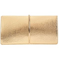 Nina Ricci Women's Arc Detail Clutch (1,750 NZD) ❤ liked on Polyvore featuring bags, handbags, clutches, gold, bolsas, beige leather handbag, genuine leather handbags, leather hand bags, leather man bags and beige purse