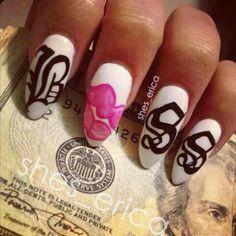 cute nails, nail art, Boss nails