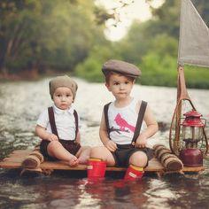 Shorts avec bretelles pour bébés garcons et par MangeToutBaby