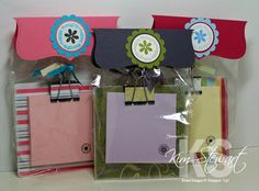 Think Happy Thoughts Post-its by stampinscrapnewbie - Cards and Paper Crafts at Splitcoaststampers