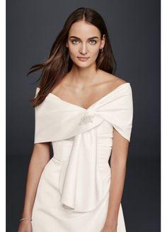 Satin Embellished Wrap OW1008 Wedding Wraps ab7d98567444