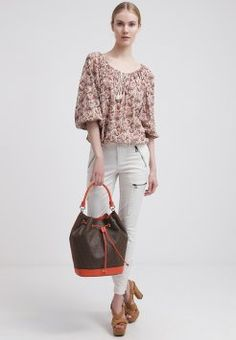 DKNY - HERITAGE - Torba na zakupy - brown/orange