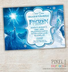 finally one that leaves more to the imagination Disney Frozen Invitations, Frozen Birthday Invitations, Disney Frozen Birthday, Birthday Fun, Birthday Party Themes, Birthday Ideas, Frozen Tea Party, Frozen Theme, Frozen Crafts