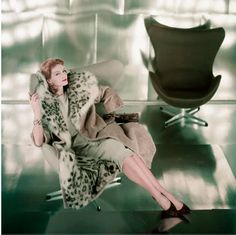 Fashionable coat 1959.  Sad to say Otter Hide with Snow Leopard Lining.  Very little fake fur in those days.  Thank goodness those days are now few and far between.