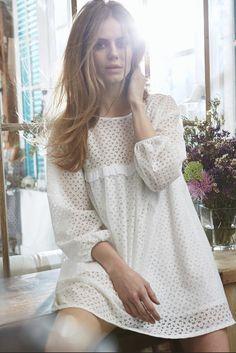 LA REDOUTE X BRIGITTE BARDOT CLOTHING Tunique en dentelle (79,00€)