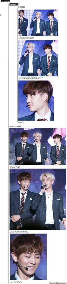 Liking the hair and er... others   allkpop Meme Center #exo