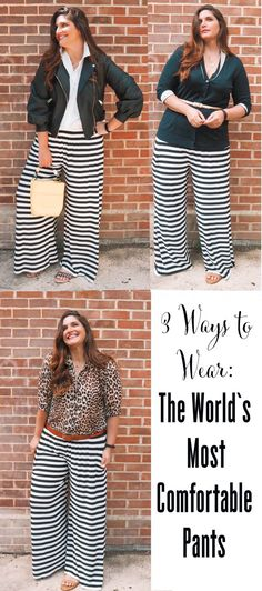 If you are looking for trousers / pants that are perfect for travel, have a good weight and won't crease...these need to be on your radar! Trouser Pants, Wide Leg Trousers, White Leopard, Racing Stripes, Pattern Mixing, What I Wore, Plus Size Fashion, Street Style, My Style