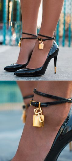 Padlock heels