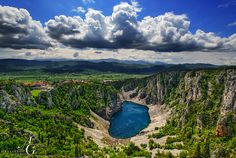 #182 Hike around Modro jezero (Blue Lake) near Imotski. In spring, when the snow from surrounding mountains melts, the karst lake can reach 90 m in depth.  Photo by Aleksandar Gospić Photography