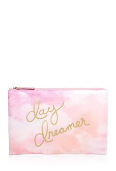Head In The Clouds Cosmetic Bag from Travel Kits, Travel Bag, Cos Bags, Forever 21 Plus, Dopp Kit, All Things Beauty, Top Beauty, Pretty Pastel, Material Girls