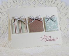 Handmade Holiday Christmas Greeting Card by EndlessInkHandmade Merry Christmas Greetings, Christmas Card Crafts, Homemade Christmas Cards, Christmas Cards To Make, Noel Christmas, Christmas Greeting Cards, Greeting Cards Handmade, Homemade Cards, Handmade Christmas
