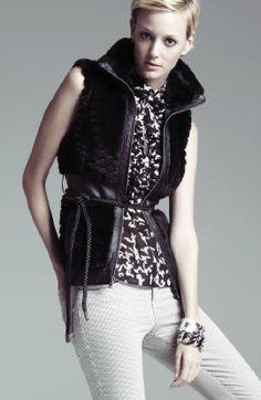 Fur Real! #guess #vest #fur #macys BUY NOW!