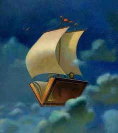 I found a special book - and disappeared into it . And sailed away. .
