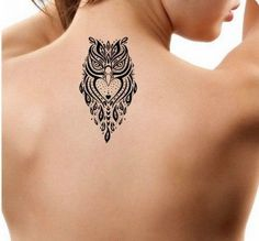 Marvelous Tribal Owl Tattoo Design 2017