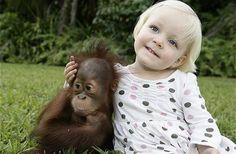 Meisje met aapje