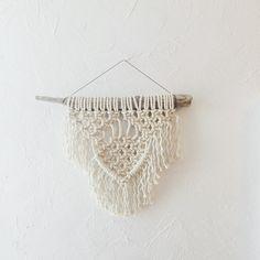 Modern Macramé Wall-Hanging  Small by NorthernSunTextiles on Etsy