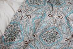 "600 TC 100% pure egyptian cotton bedding sets ""Paisley"" (4 Pcs Set King Size)"