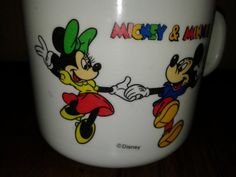 Vintage Mickey and Minnie Child's Plastic by RobandJensOddsnEnds, $4.50